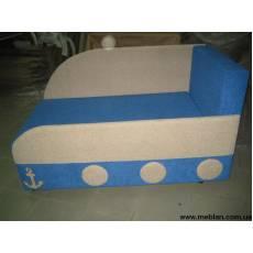 Диван для детской комнаты голубой №4481