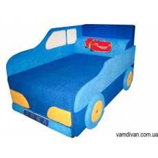 Детский диван для подростка синий №4515