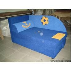Детский диван раскладной синий №4519