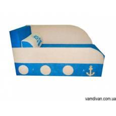 Детский диван голубой №4529