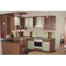 Дизайн с коричневой мебелью
