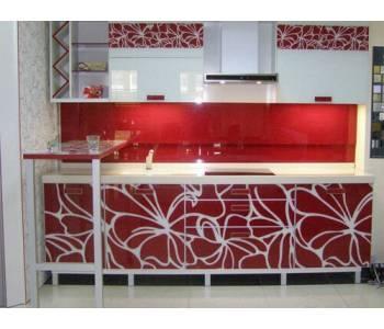 Кухни красные с белым