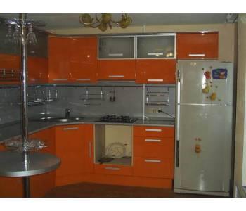 Оранжевая кухня по индивидуальному заказу