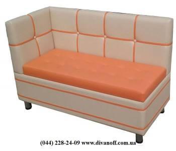 Кухонный диван Квадро с боковой спинкой
