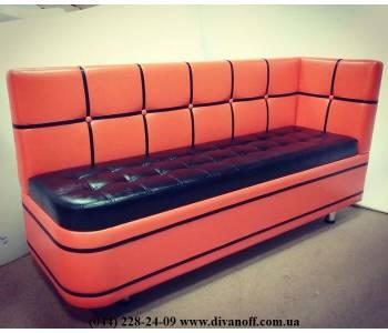Кухонный диван Квадро с угловой спинкой, радиусом и утяжками