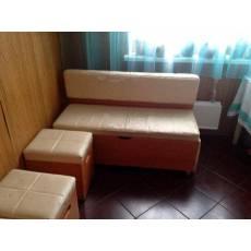 Обивка кухонного дивана в кожзам