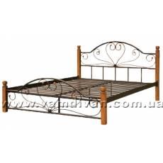 Кровать Джоконда 160х200 на деревянных ногах