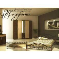 Кровать Жозефина 160х200 на деревянных ногах