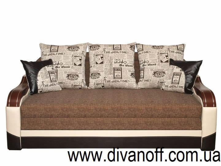 Диван Эфес 180 коричневая газета