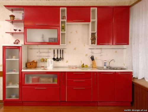 Кухни красные