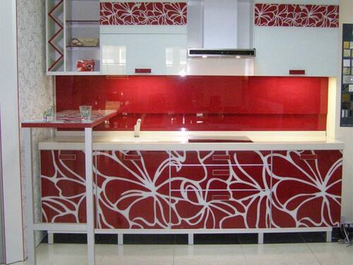 Кухни красные с белым на заказ