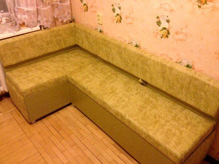 Перетяжка мебели, кухонного уголка в ткань