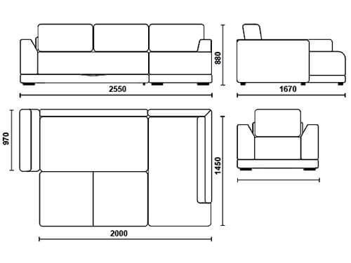 Чертеж дивана