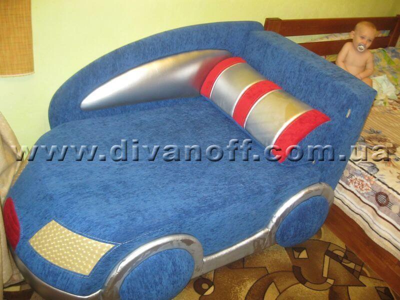 синий диван Драйв синий