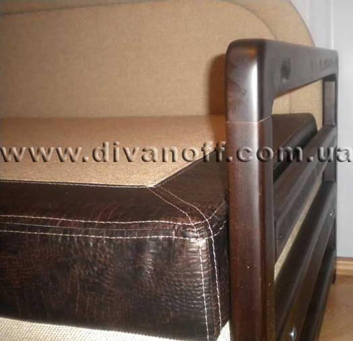 диван с подлокотниками из дерева