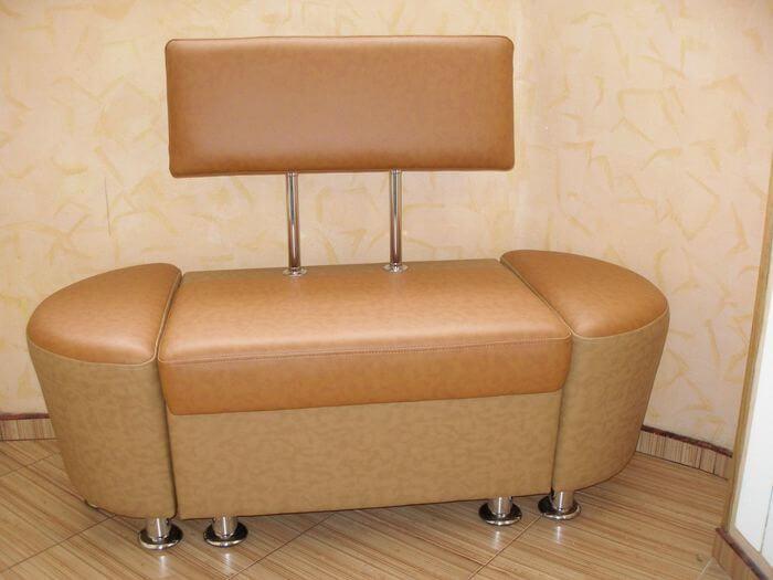 Маленький кухонный диван 777 с двумя закруглениями