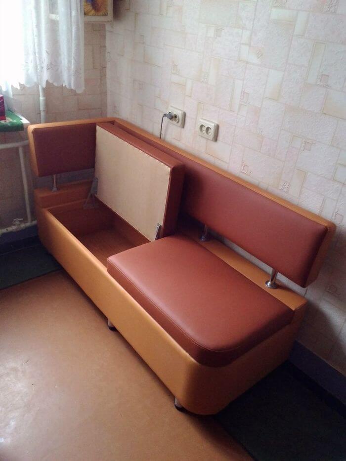 Кухонный диван с двойным ящиком