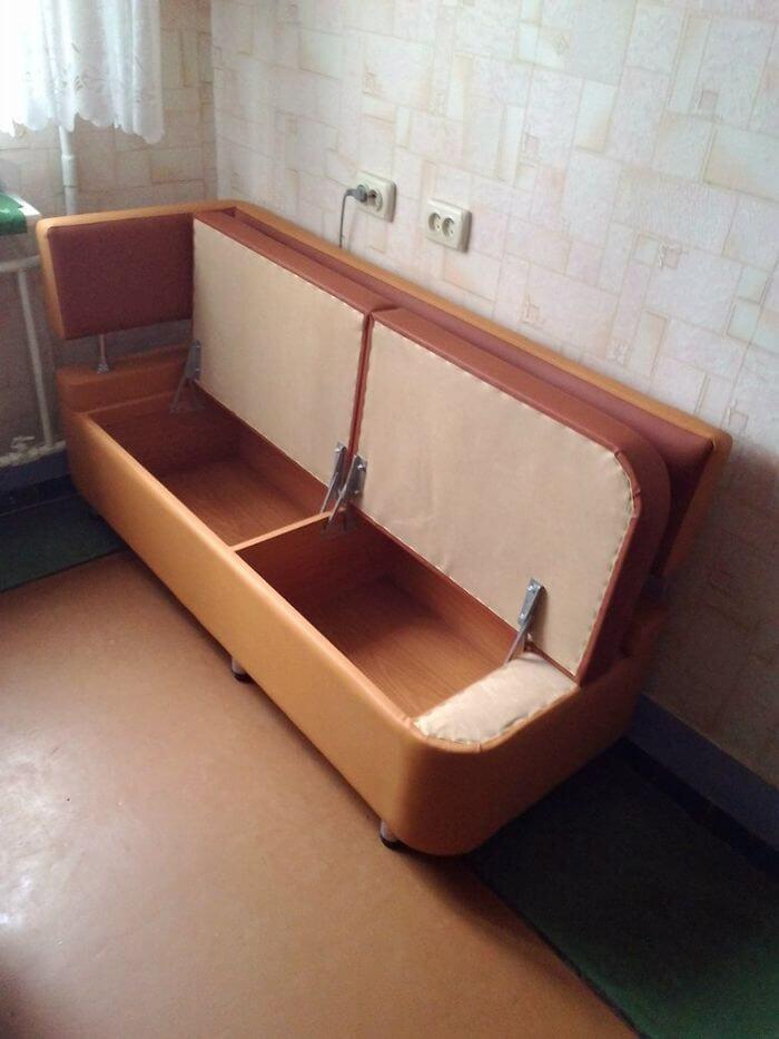 Кухонный диван для кухни с двойным ящиком