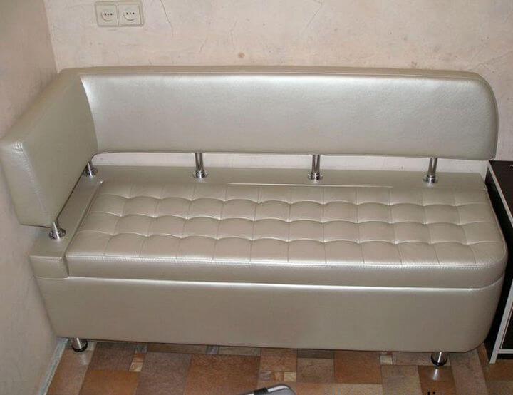 Кухонная лавка №999 с втяжками, радиусом и бок. спинкой