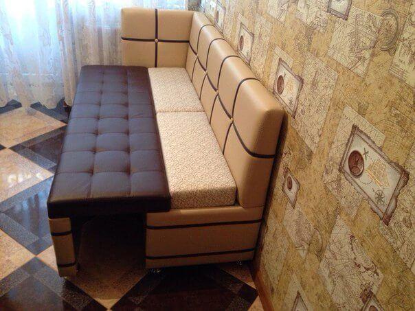 диван Квадро для кухни со спальным