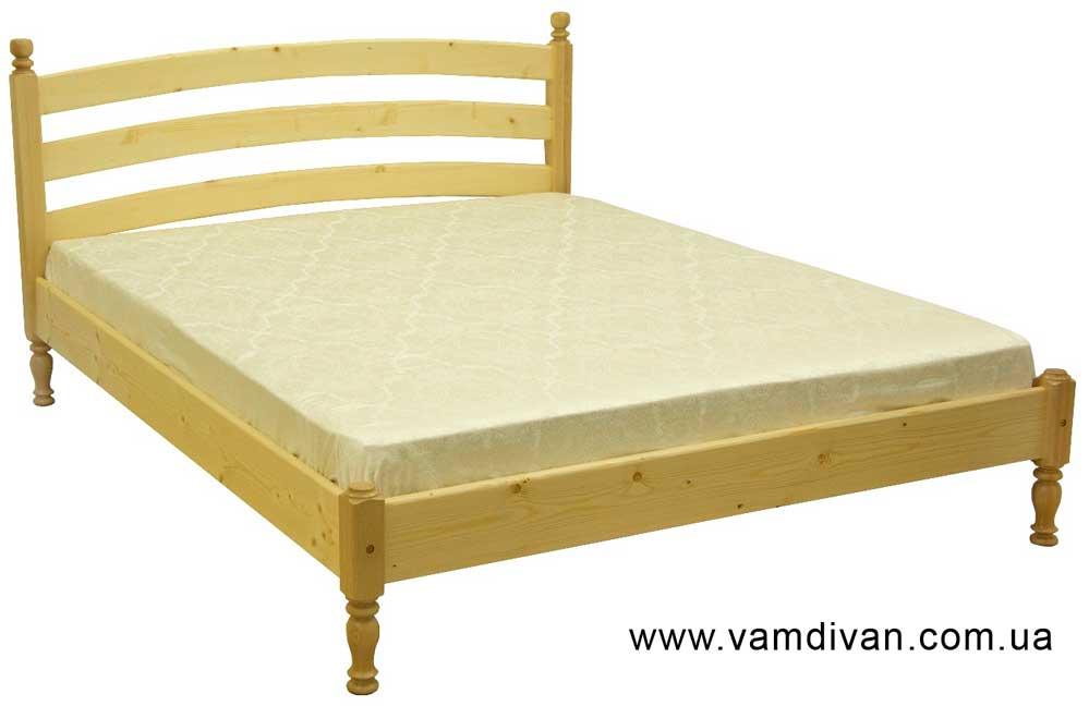 Деревянная двуспальная кровать Скиф