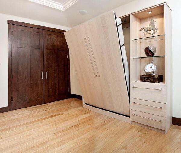 Фото шкаф кровать в интерьере