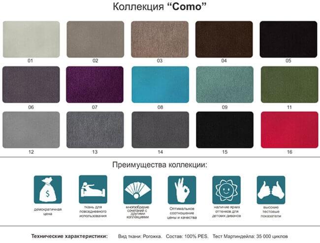 Для кухонного дивана ткань Комо